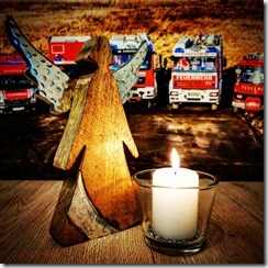 Friedenslicht-Kerze-Engel